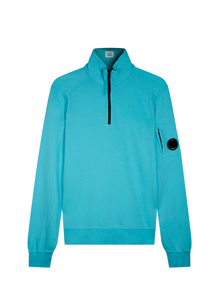 Funnel Neck Polo Sweatshirt in Radiance Blue