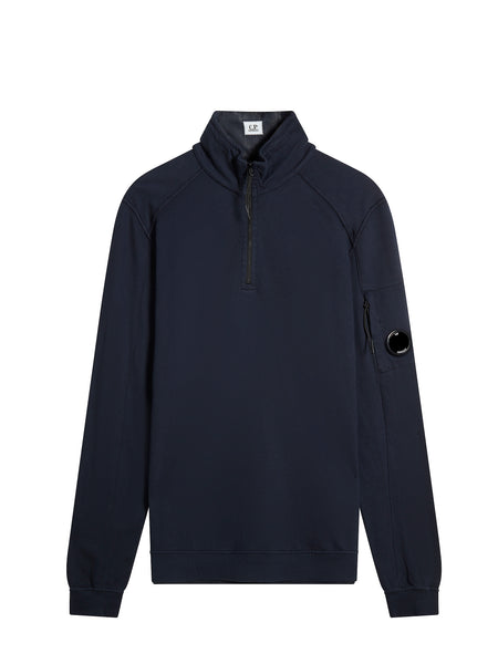 Funnel Neck Polo Sweatshirt in Total Eclipse