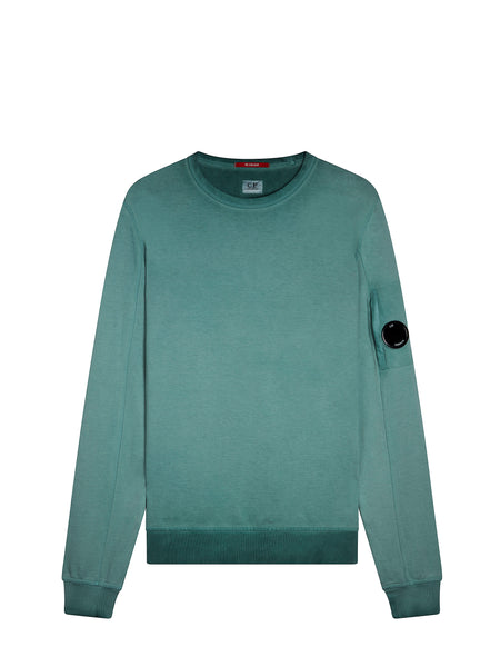 Re-Colour Crew Neck Sweatshirt In North Sea Blue