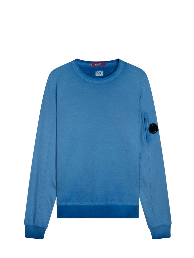 Re-Colour Crew Neck Sweatshirt In Dazzling Blue