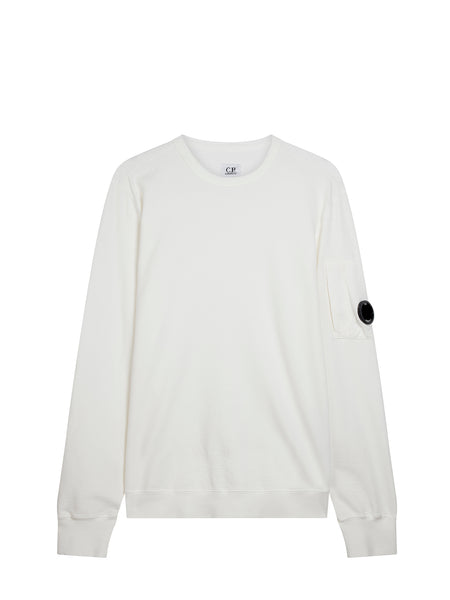 Light Fleece Lens Sweatshirt in Tapioca White