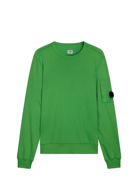 Light Fleece Lens Sweatshirt in Classic Green
