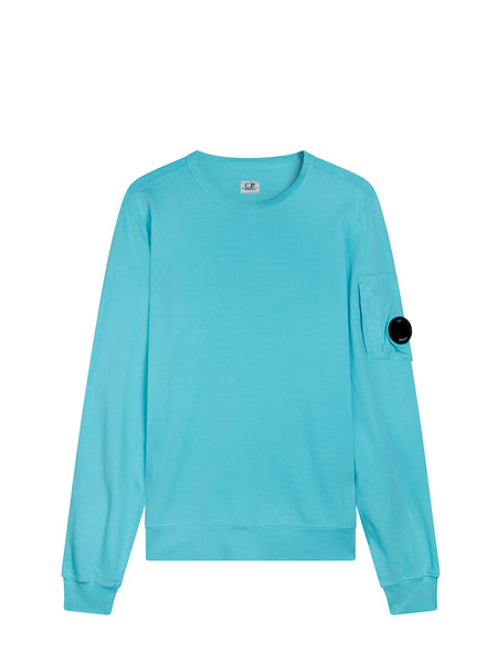 Light Fleece Lens Sweatshirt in Radiance Blue
