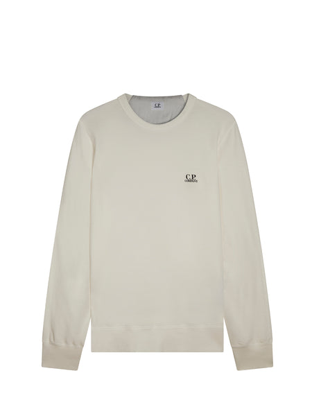 Logo Crew Neck Sweatshirt In Tapioca White