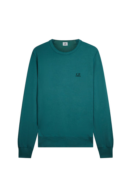 Logo Crew Neck Sweatshirt in North Sea Blue