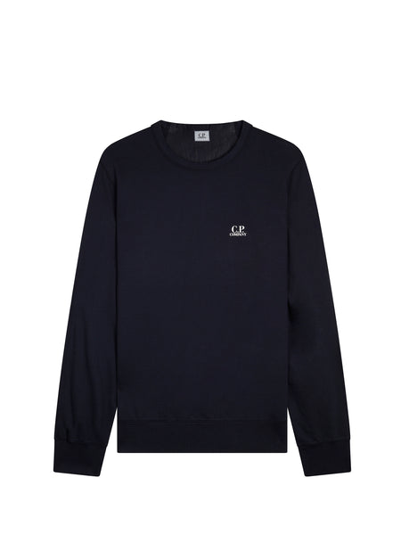 Logo Crew Neck Sweatshirt in Total Eclipse