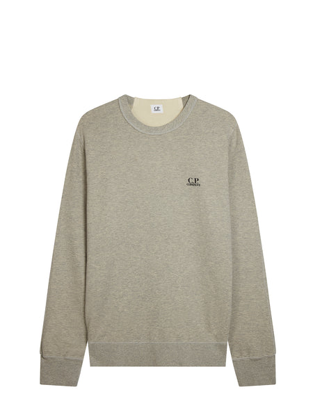 Logo Crew Neck Sweatshirt in Grey Melange