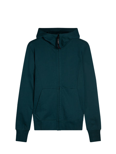 Diagonal Fleece Goggle Sweatshirt in Green Gables