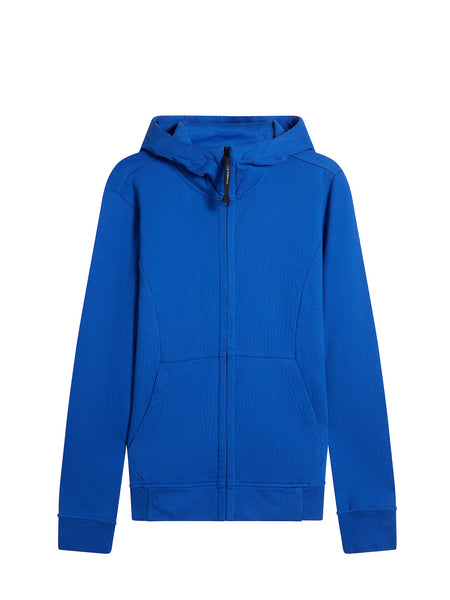 Diagonal Fleece Goggle Sweatshirt in Dazzling Blue
