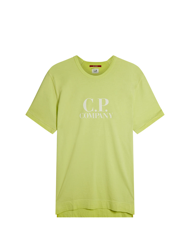 Re-Colour Mako Airo Logo T-Shirt in Evening Primrose Green