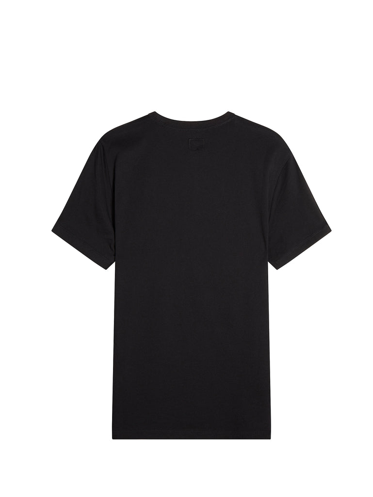 30/1 Jersey Graphic Logo T-Shirt in Caviar Black