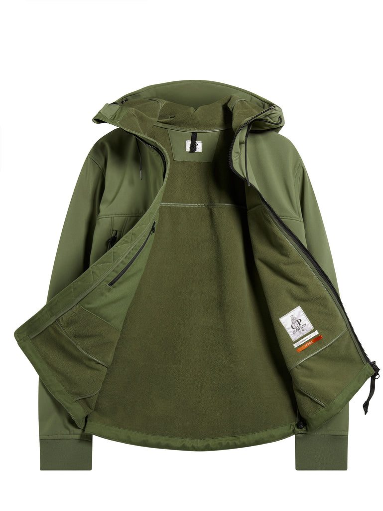 Shell Goggle Hood Jacket in Sage