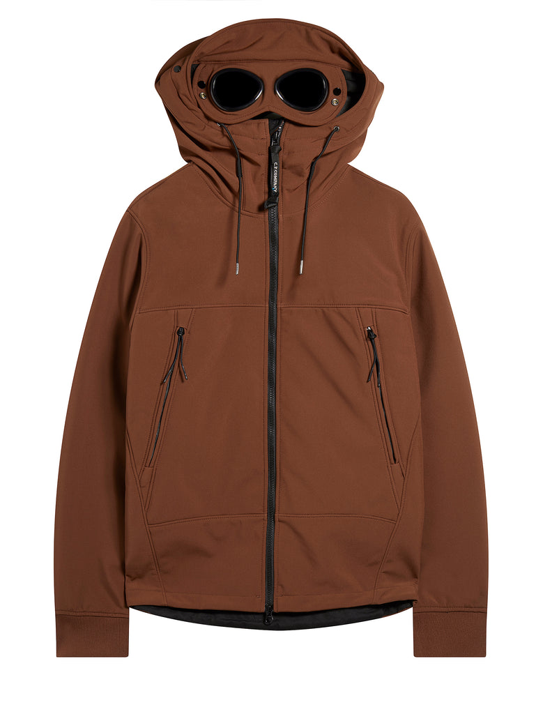 Shell Goggle Hood Jacket in Tortoise Shell