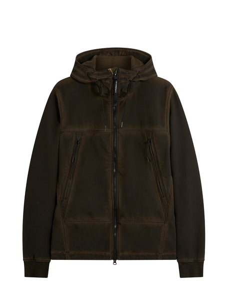 C.P. Shell Re-Colour Goggle Hood Jacket in Dark Olive