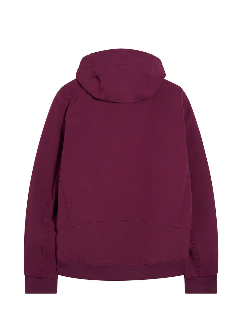 Lens Sleeve Hooded Jacket in Gloxinia Purple