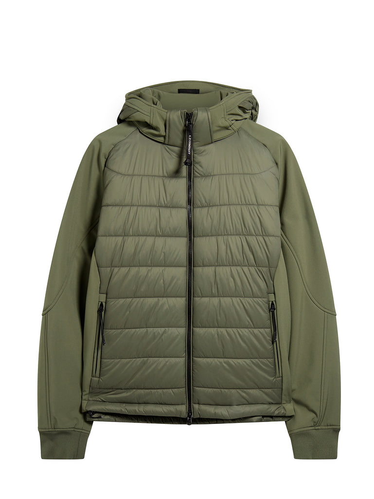 C.P. Shell Nylon Mix Hooded Goggle Jacket in Sage