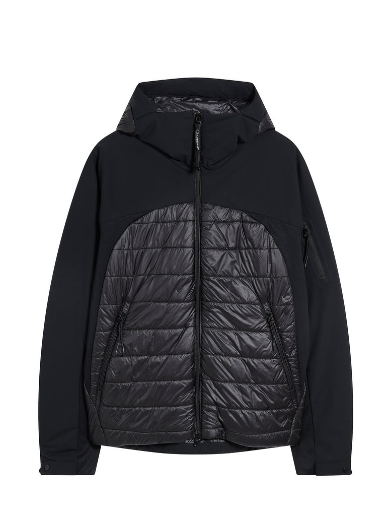 Pro-Tek Mixed Hooded Jacket in Black Coffee