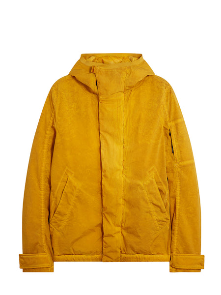 Nycra Re-Colour Concealed Fastening Hooded Jacket in Golden Yellow