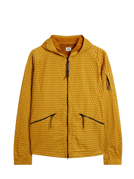 Air-Net 3D Hooded Jacket in Golden Yellow