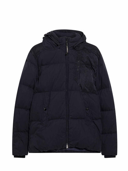 50 Fili Down Quilted Goggle Jacket in Blue