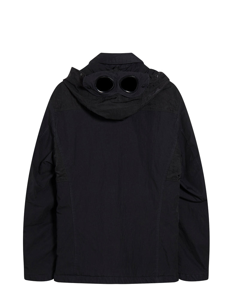 50 Fili Contrast Panel Goggle Hooded Jacket in Total Eclipse