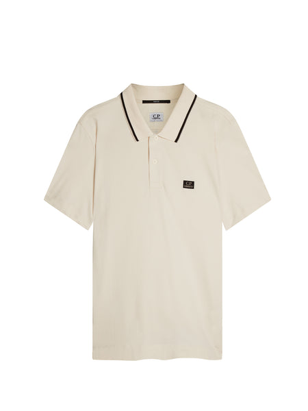 Cotton Pique Slim-Fit Polo Shirt in Gauze White