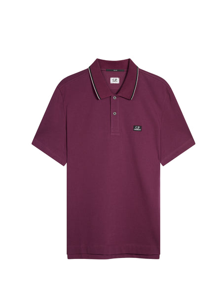 Cotton Pique Slim-Fit Polo Shirt in Gloxinia Purple