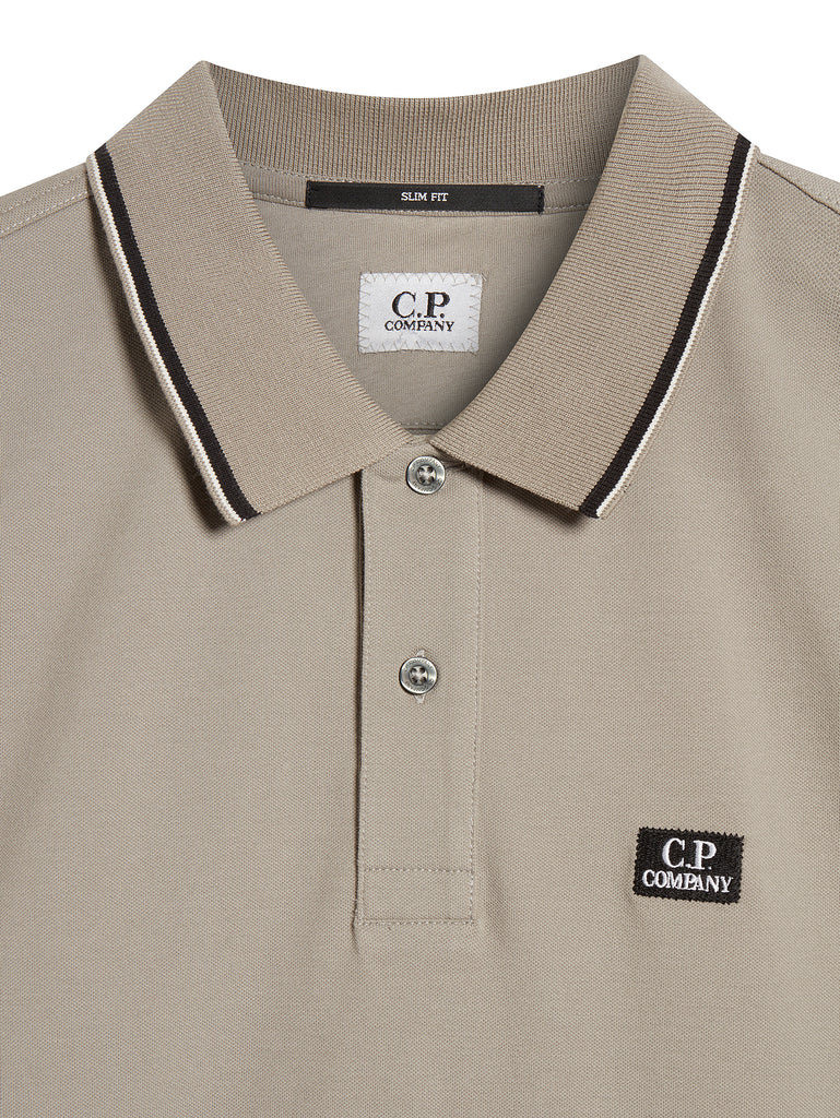 Cotton Pique Slim-Fit Polo Shirt in Slate