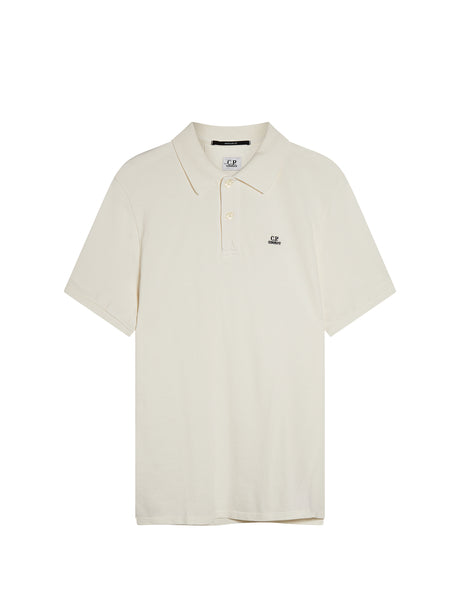 Cotton Regular Fit Polo Shirt in Gauze White