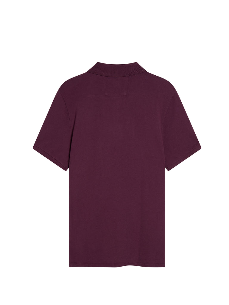Cotton Regular Fit Polo Shirt in Gloxinia Purple