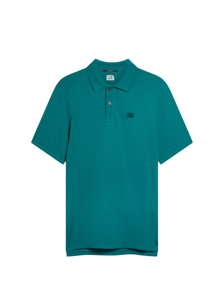 Cotton Regular Fit Polo Shirt in North Sea Blue