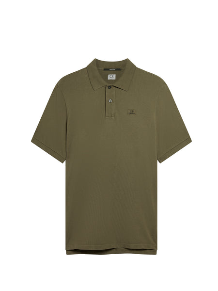 Cotton Regular Fit Polo Shirt in Sage