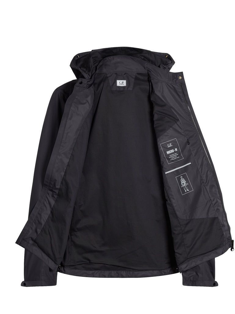 Micro-M Front Pocket Goggle Hood Overshirt in Black Coffee
