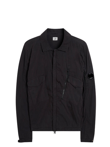 50 Fili Peach Overshirt in Black Coffee