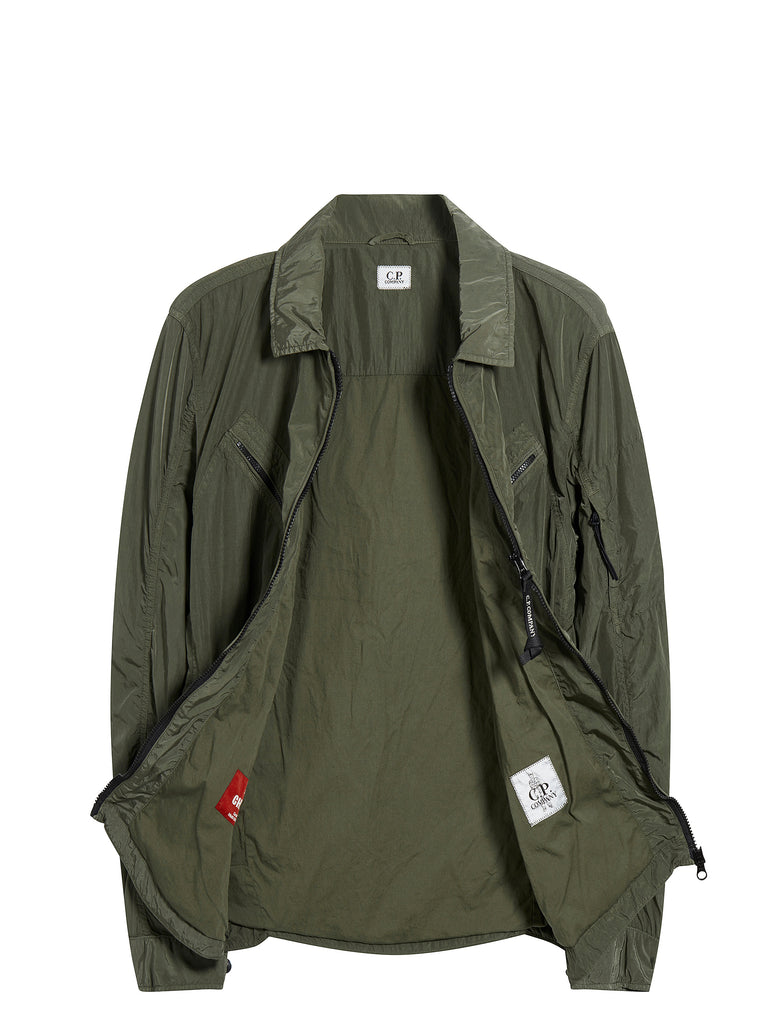 Chrome GD Utility Zip Overshirt in Sage