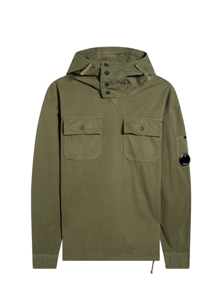 Arm Lens Smock in Dark Olive