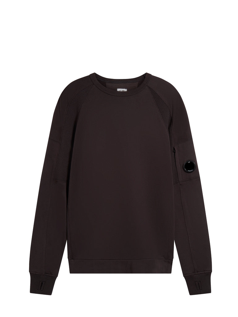 Diagonal Raised Fleece Lens Sweatshirt in Black Coffee