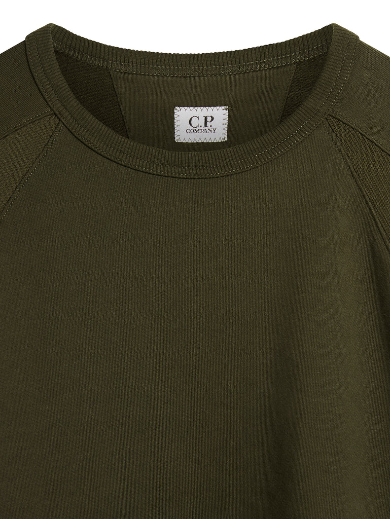 Diagonal Raised Fleece Lens Sweatshirt in Cloudburst