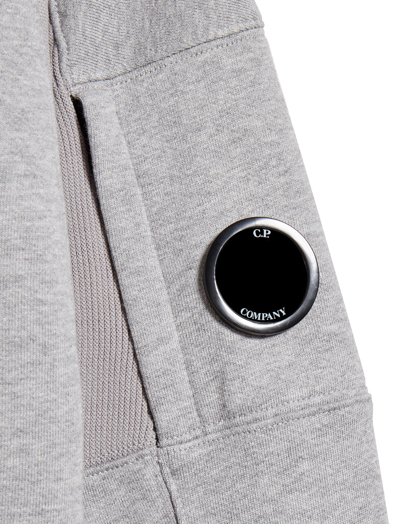 Diagonal Raised Fleece Lens Sweatshirt in Grey Melange