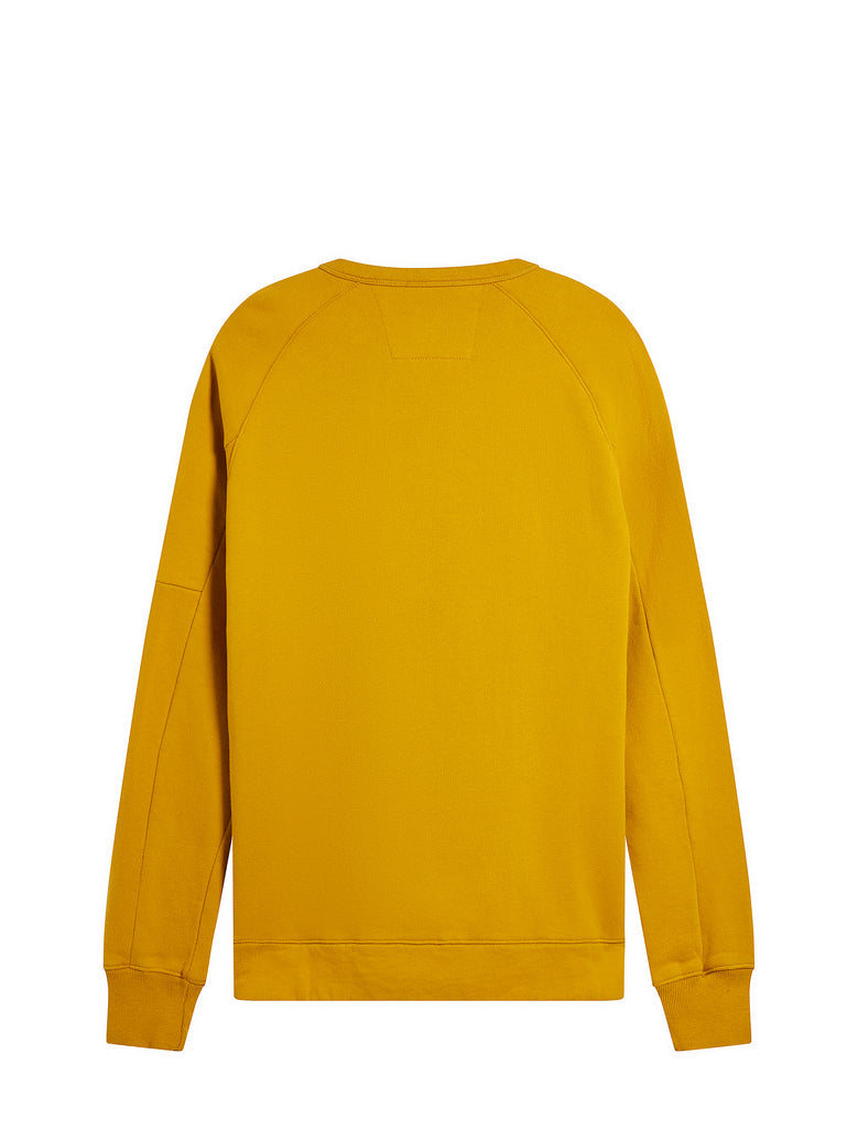 Diagonal Zip Sweatshirt in Golden Yellow