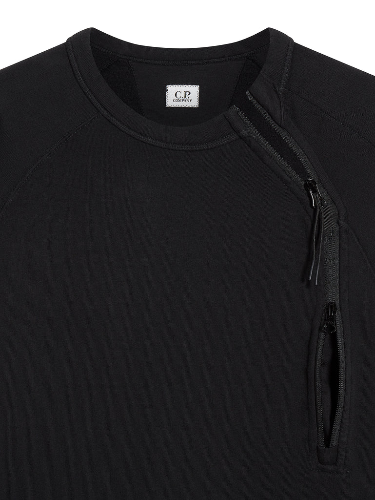 Diagonal Zip Sweatshirt in Black Coffee