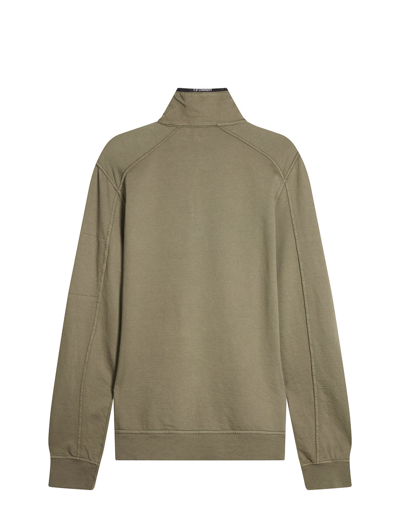 Light Fleece Funnel Neck Lens Sweatshirt in Sage