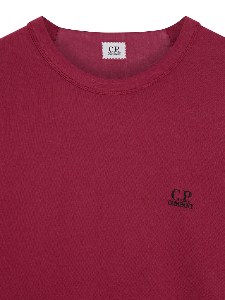 Logo Crew Neck Sweatshirt in Beet Red