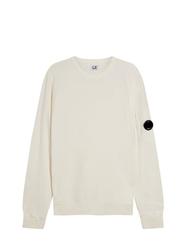 Light Fleece Lens Sweatshirt in Gauze White