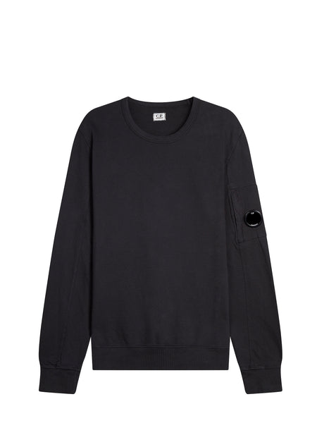 Light Fleece Lens Sweatshirt in Black Coffee