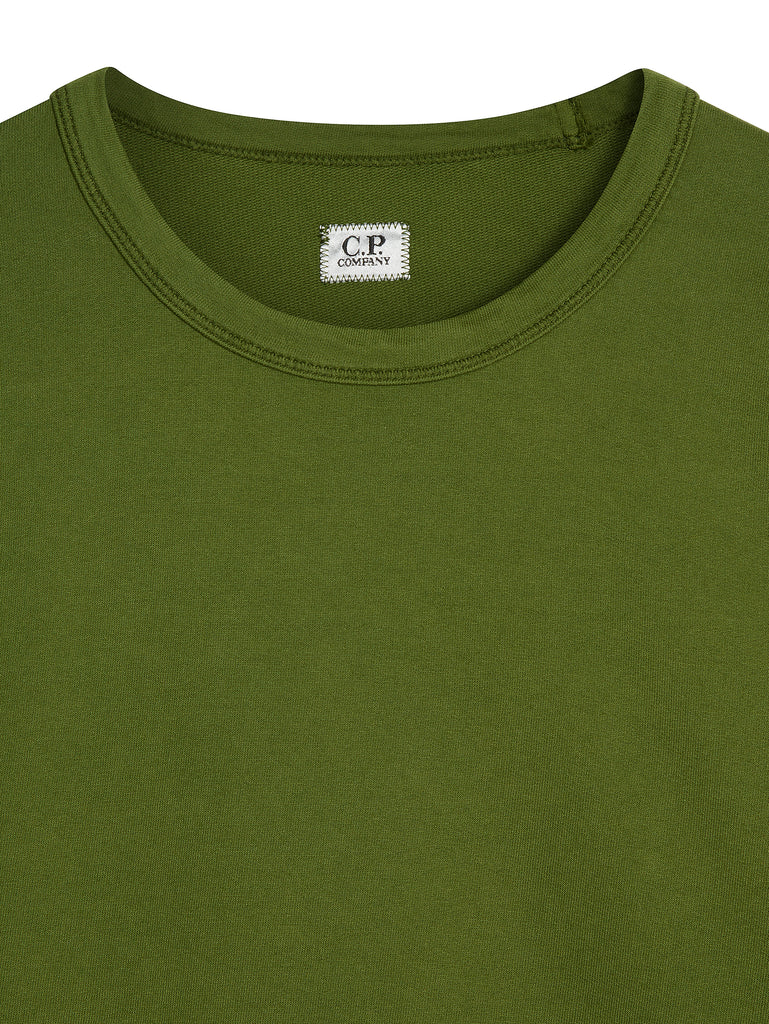 Light Fleece Lens Sweatshirt in Pesto