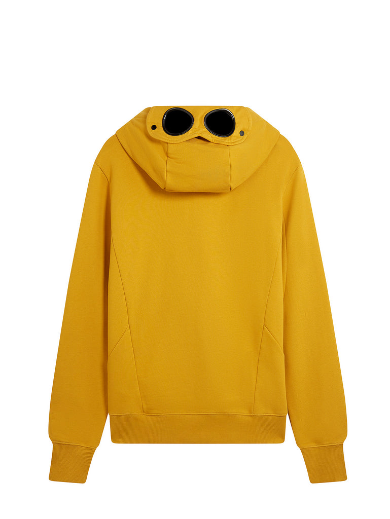 Diagonal Raised Fleece Zip Goggle Sweatshirt in Golden Yellow