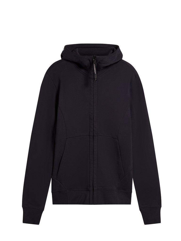 Diagonal Raised Fleece Zip Goggle Sweatshirt in Total Eclipse