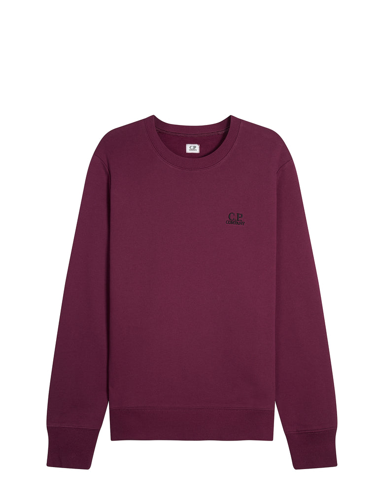 Embroidered Logo Crew Neck Sweatshirt in Gloxinia Purple