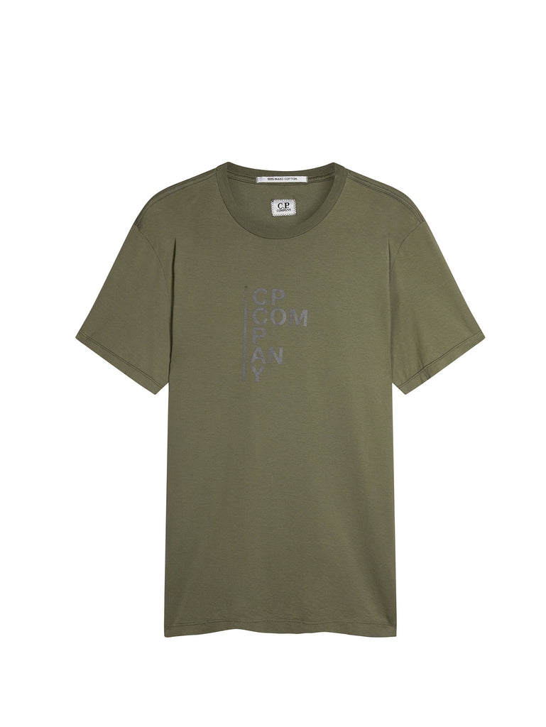 Mako Cotton Print Graphic T-Shirt in Sage